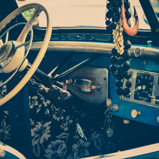 """1947 Willy's Jeep Interior"" stock image"