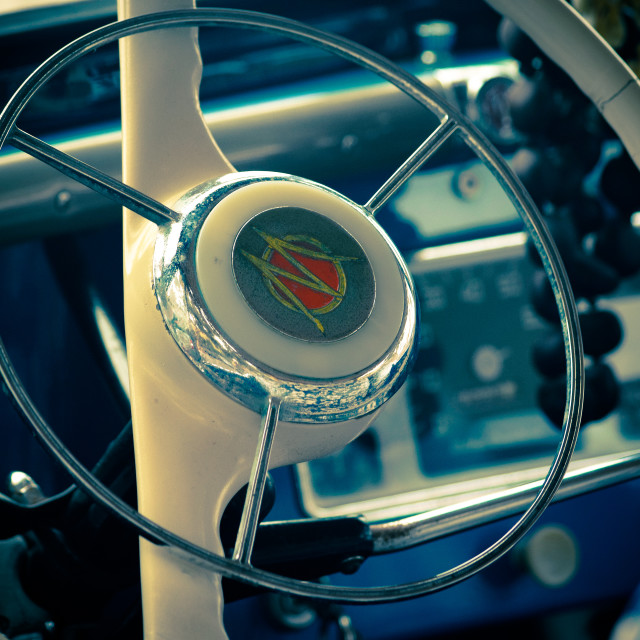 """1947 Willy's Jeep - Steering Wheel"" stock image"