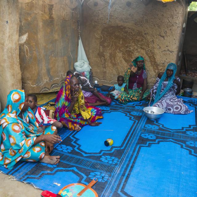 """Backyard of a traditional house, Gaoui, near N´Djamena, Chad"" stock image"