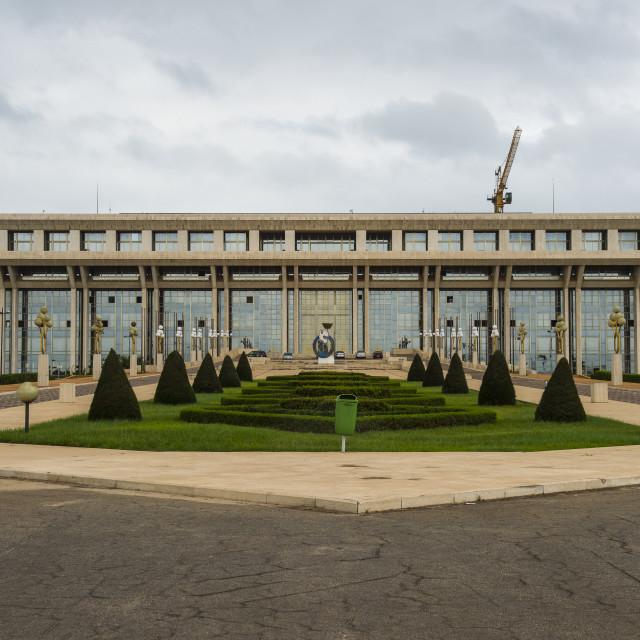 """""""Parliament of Yamassoukrou, Ivory coast"""" stock image"""