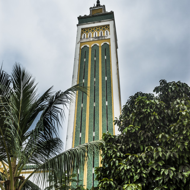 """Hassane II Mosque, Libreville, Gabon"" stock image"
