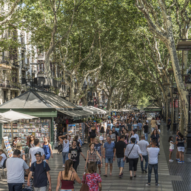 """Barcelona, La Rambla."" stock image"