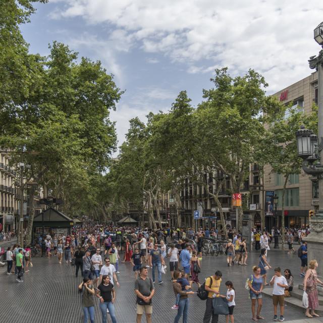 """Spain. Barcelona. La Rambla."" stock image"