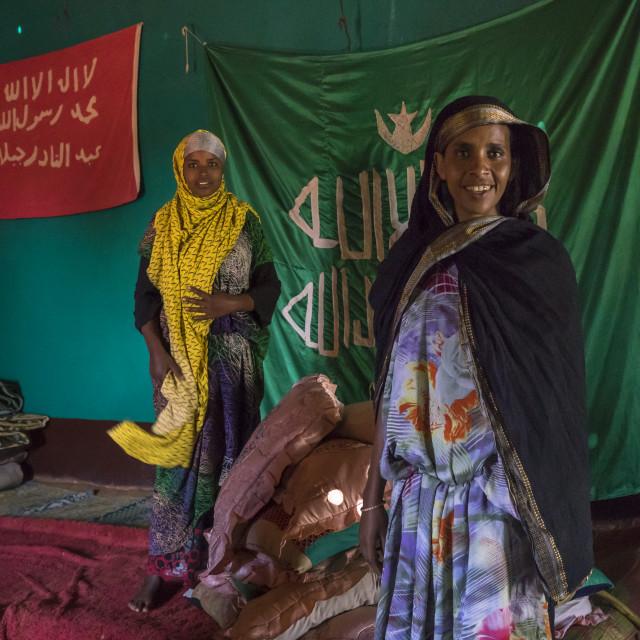 """""""Sufi Women Worshipper, Harar, Ethiopia"""" stock image"""