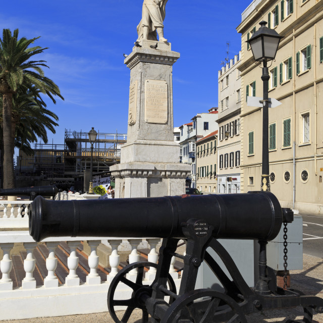 """Great War Memorial, Gibraltar, United Kingdom, Europe"" stock image"