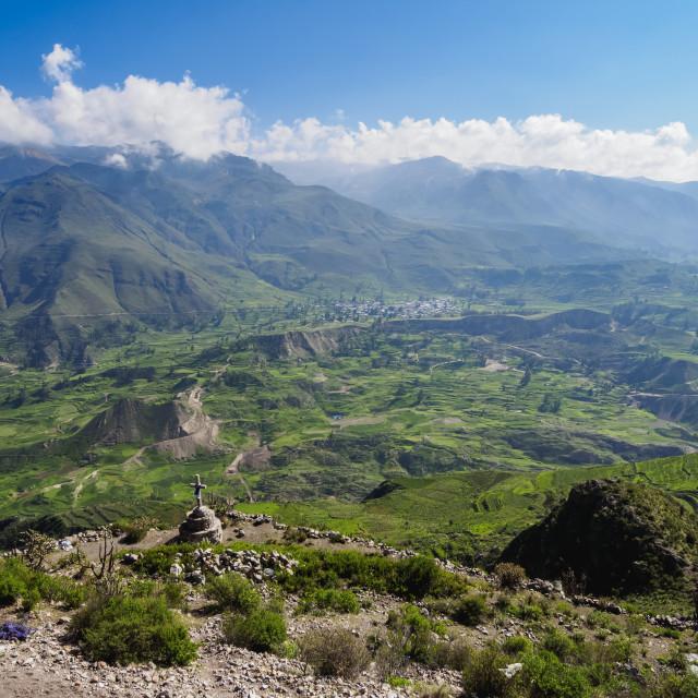 """Colca Valley, Arequipa Region, Peru"" stock image"