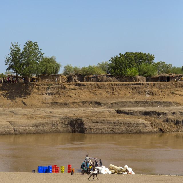 """""""Omo River Banks, Kangate, Omo Valley, Ethiopia"""" stock image"""