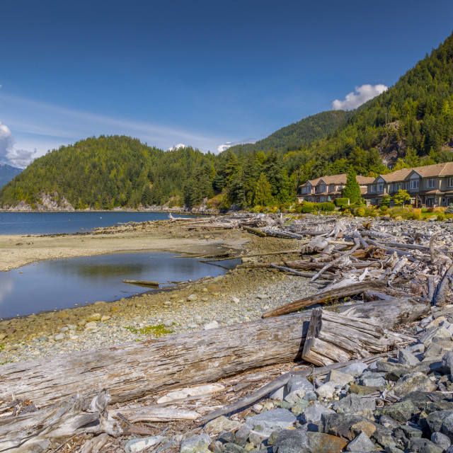 """""""View of How Sound at Furry Creek off The Sea to Sky Highway near Squamish,..."""" stock image"""
