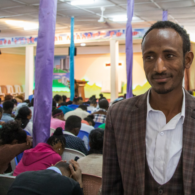 """""""Evangelist pastor Mohamed who converted from islam to christianity inside the..."""" stock image"""