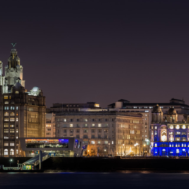 """Liverpool's Three Graces"" stock image"
