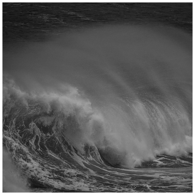 """Storm Wave B+W"" stock image"