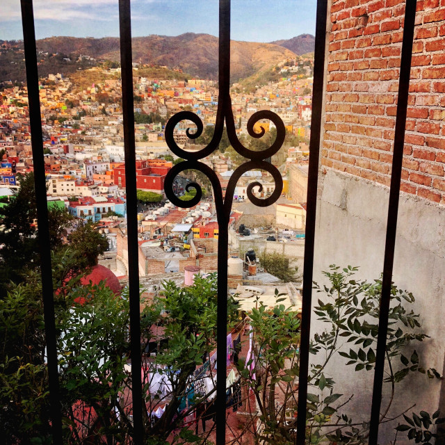 """Window View of Guanajuato, Mexico"" stock image"