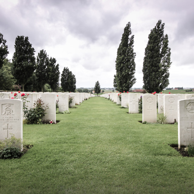 """Tyne Cot Memories"" stock image"