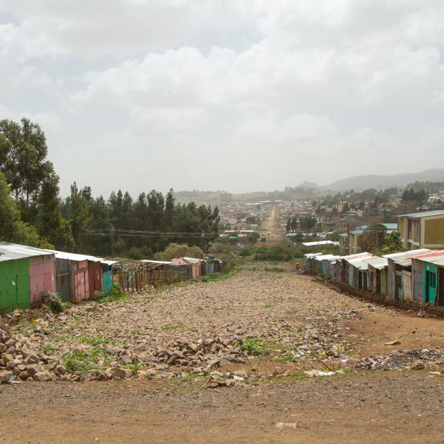 """Township in the suburb, Addis abeba region, Addis ababa, Ethiopia"" stock image"