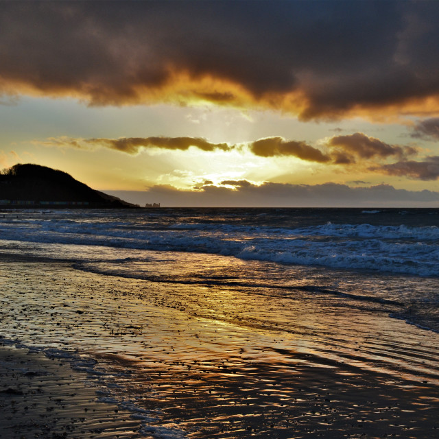 """Stormy Sunset"" stock image"