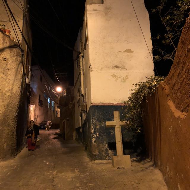 """Guanajuato at Night 4"" stock image"