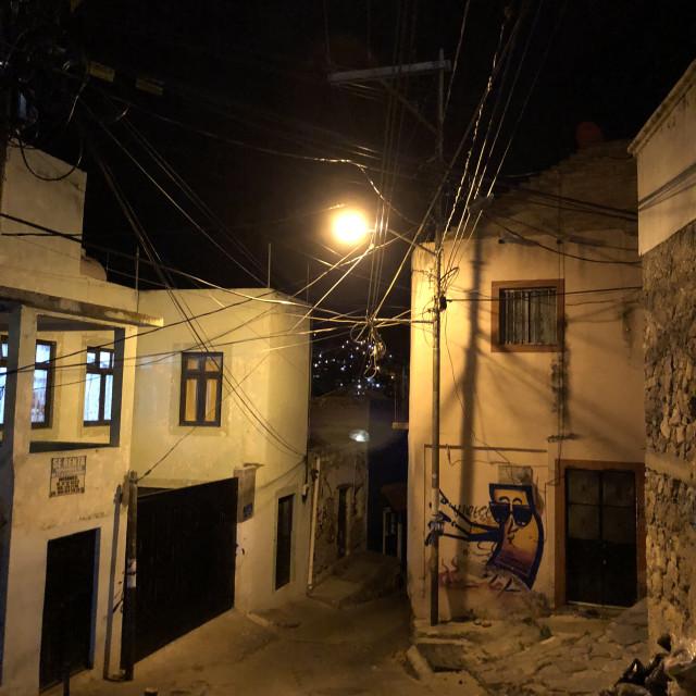 """Guanajuato at Night 3"" stock image"