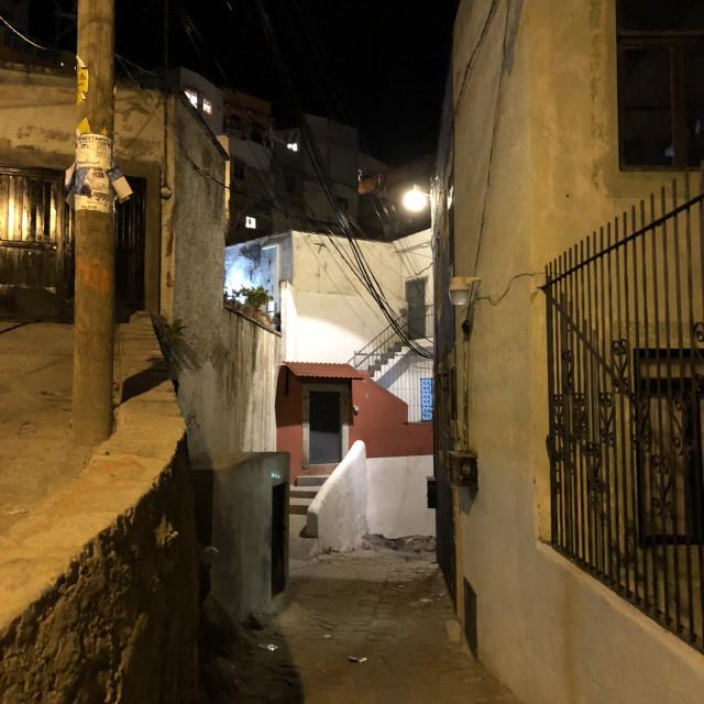 """Guanajuato at Night 1"" stock image"