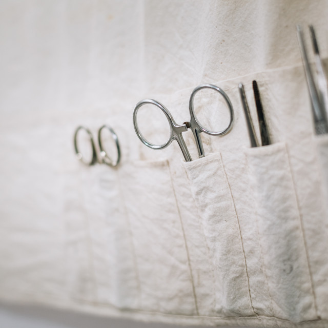 """""""Old medical and surgical instruments"""" stock image"""