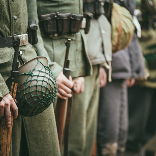 """""""Close Up Of German Military Ammunition Of A German Soldiers. Unidentified..."""" stock image"""