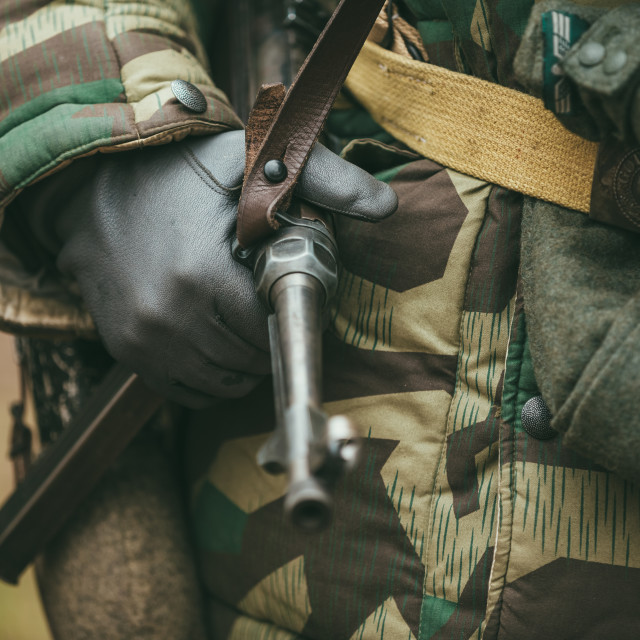"""""""Close up of german military ammunition of a German soldier"""" stock image"""