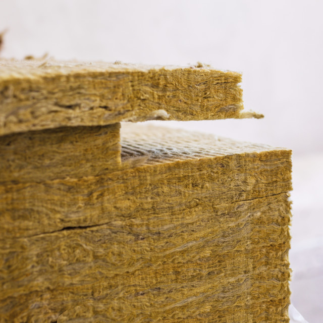 """Stone wool insulation"" stock image"