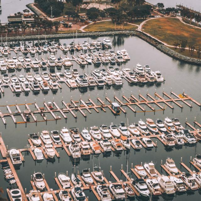 """San Diego Marina"" stock image"