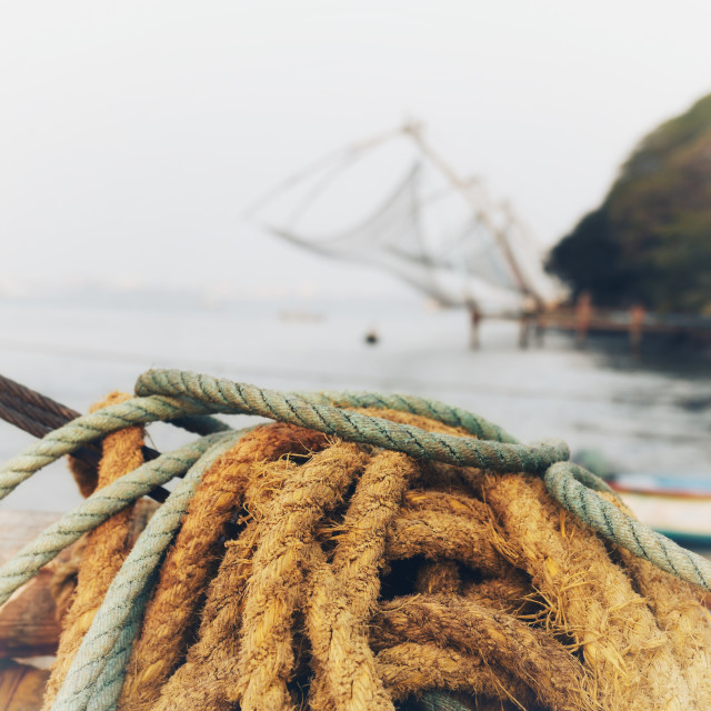 """Chinese fishing nets"" stock image"