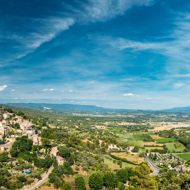 """""""Scenic view of ancient hilltop village of Gordes in Provence, France. Amazing..."""" stock image"""
