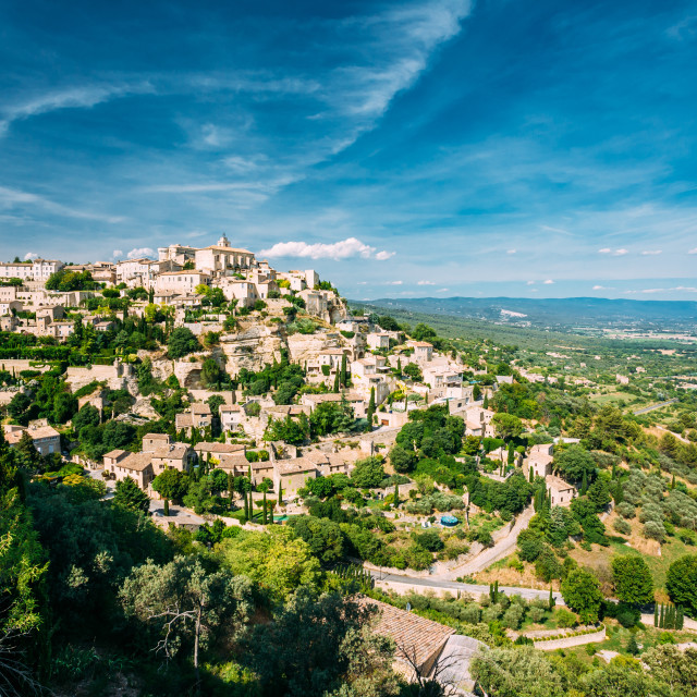 """""""Ancient village of Gordes in Provence, France"""" stock image"""