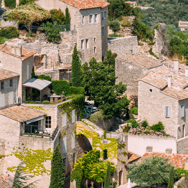 """""""Picturesque hill top village of Gordes in Provence, France. Old houses."""" stock image"""