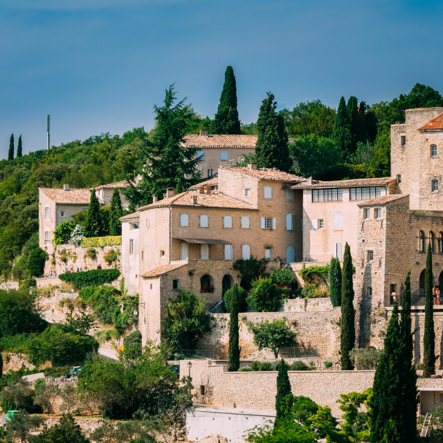 """""""Picturesque hill top village of Gordes in Provence, France"""" stock image"""