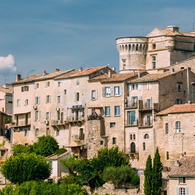 """""""Ancient picturesque hill top village of Gordes in Provence, France"""" stock image"""