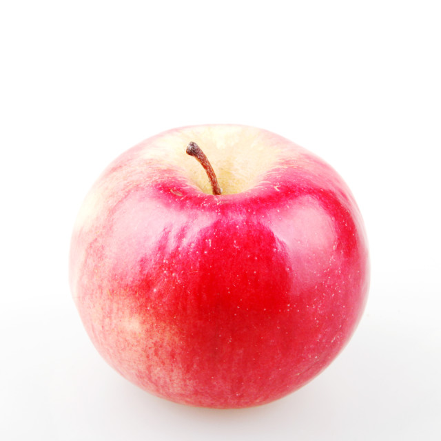 """""""Red apple isolated on white."""" stock image"""