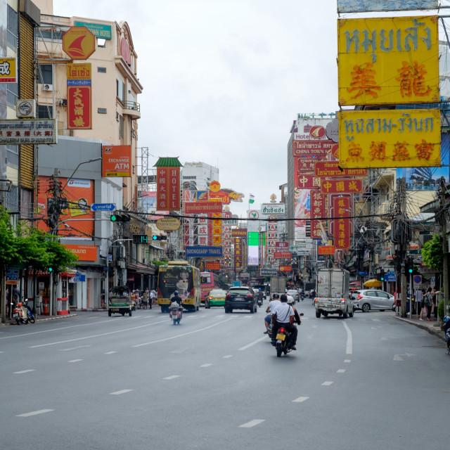"""Chinatown, Bangkok"" stock image"
