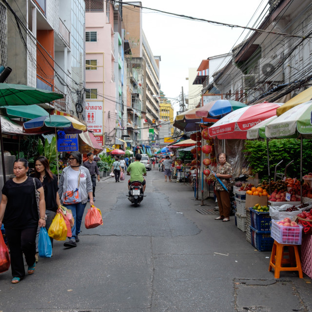 """Market in Bangkok"" stock image"