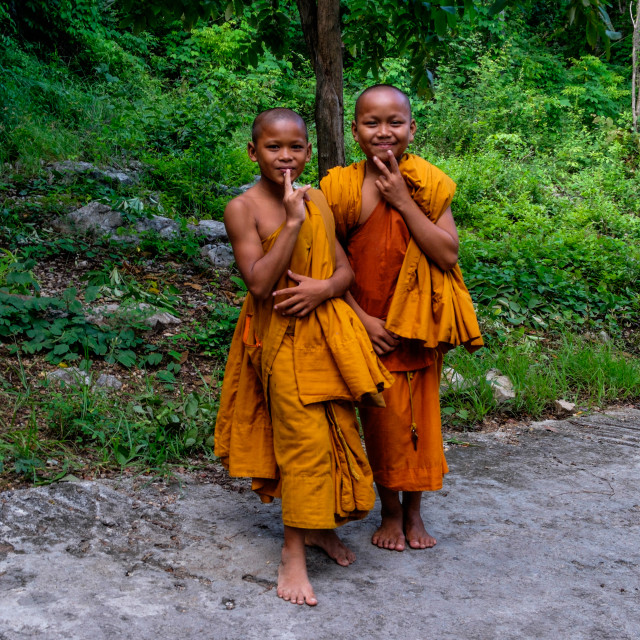 """""""Two Young Buddhists"""" stock image"""