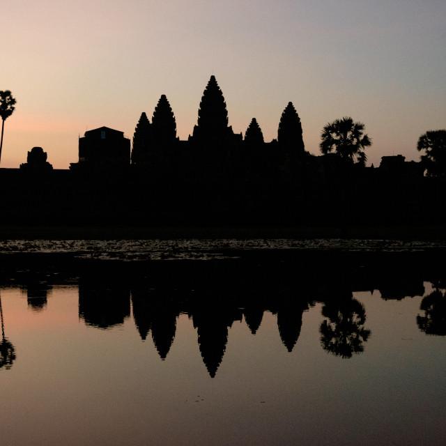 """""""Sunrise on Angkor Wat"""" stock image"""