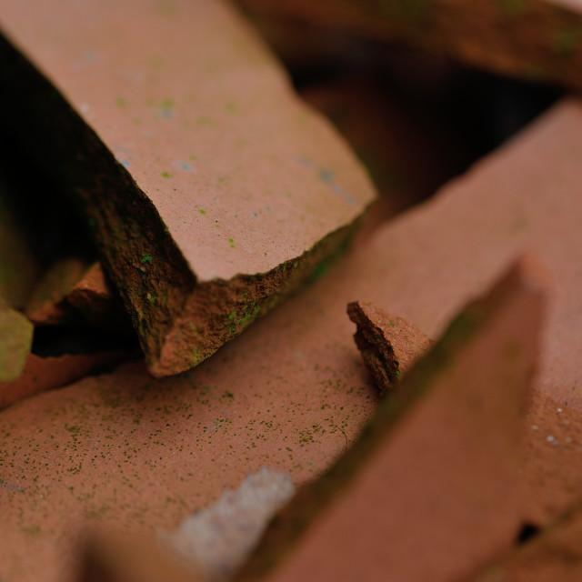 """""""Smashed terracotta"""" stock image"""