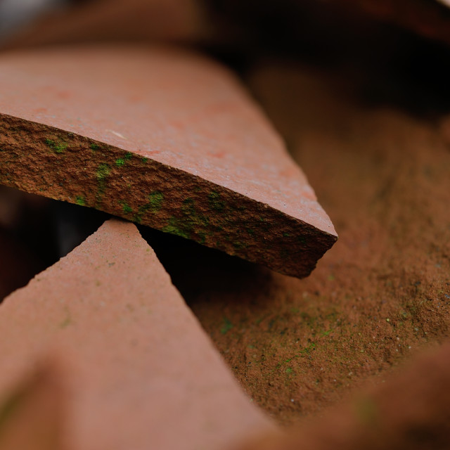 """Broken terracotta"" stock image"