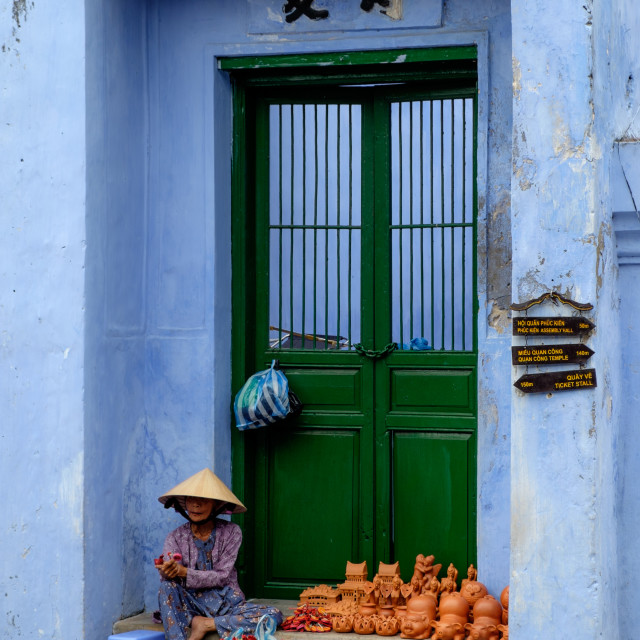 """Street Artist in Hoi An"" stock image"