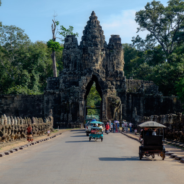 """""""South Gate to Angkor Thom"""" stock image"""