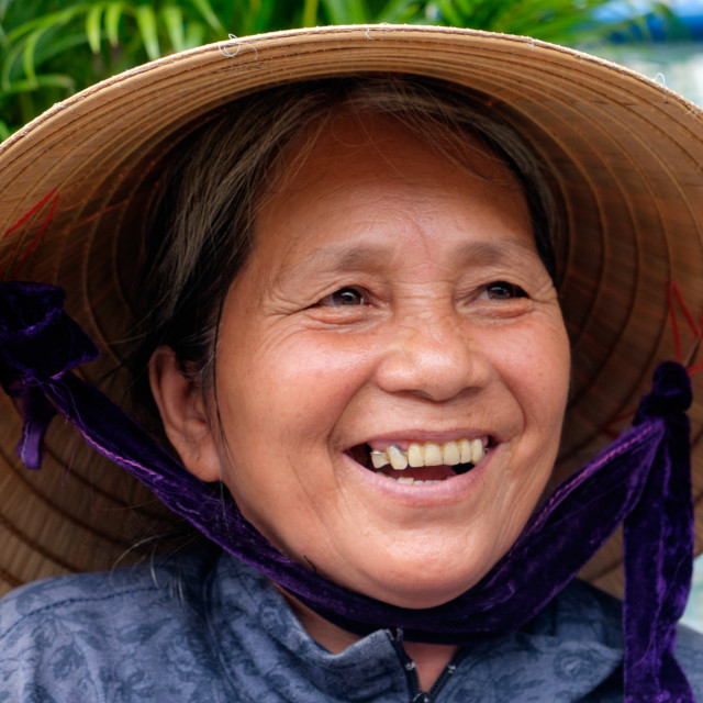 """""""Portrait of Street Vendor in Hoi An"""" stock image"""