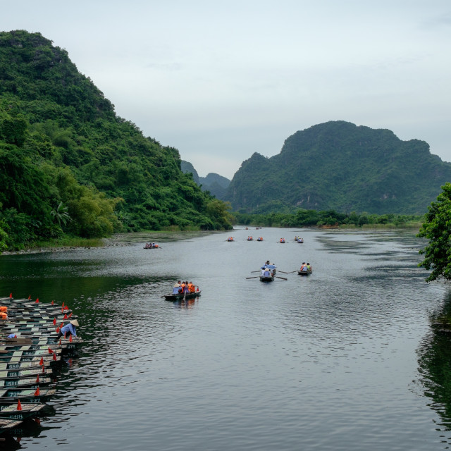 """Tam Coc Boat Ride"" stock image"
