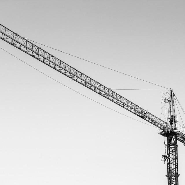 """""""Crane Sky"""" stock image"""