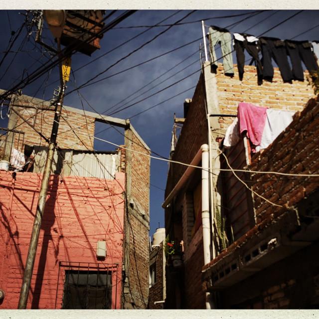 """""""Sunday Laundry Line 2"""" stock image"""