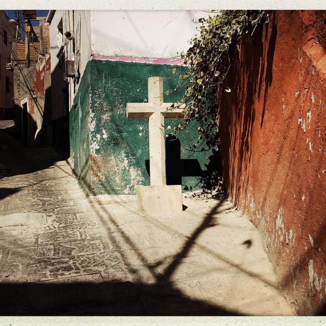 """""""Concrete Cross 2"""" stock image"""