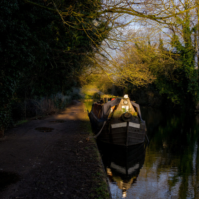 """Winter Light On The Grand Union Canal"" stock image"