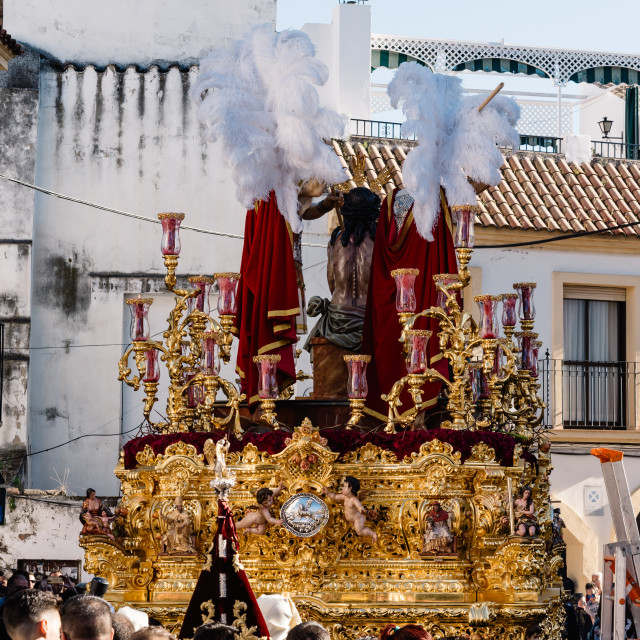 """Christ sculpture in Easter procession in Cordoba"" stock image"
