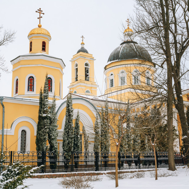 """""""Peter and Paul Cathedral in Gomel, Belarus."""" stock image"""